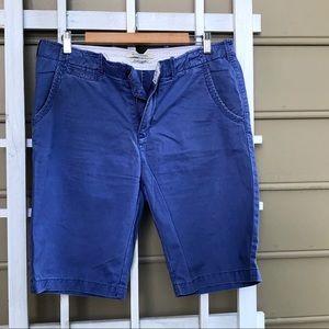 "Scotch & Soda blue 10.5"" 5 pocket flat front short"
